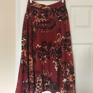 Akemi + Kin Aztec pattern Midi Skirt